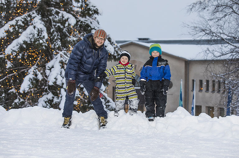 Winter in Rovaniemi with kids