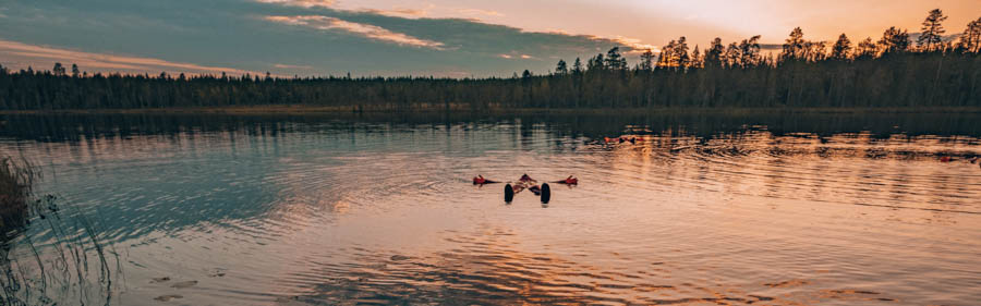You Could Travel Rovaniemi Summer Ambassador Cory Varga Midnight Sun Floating Safartica Lapland Finland