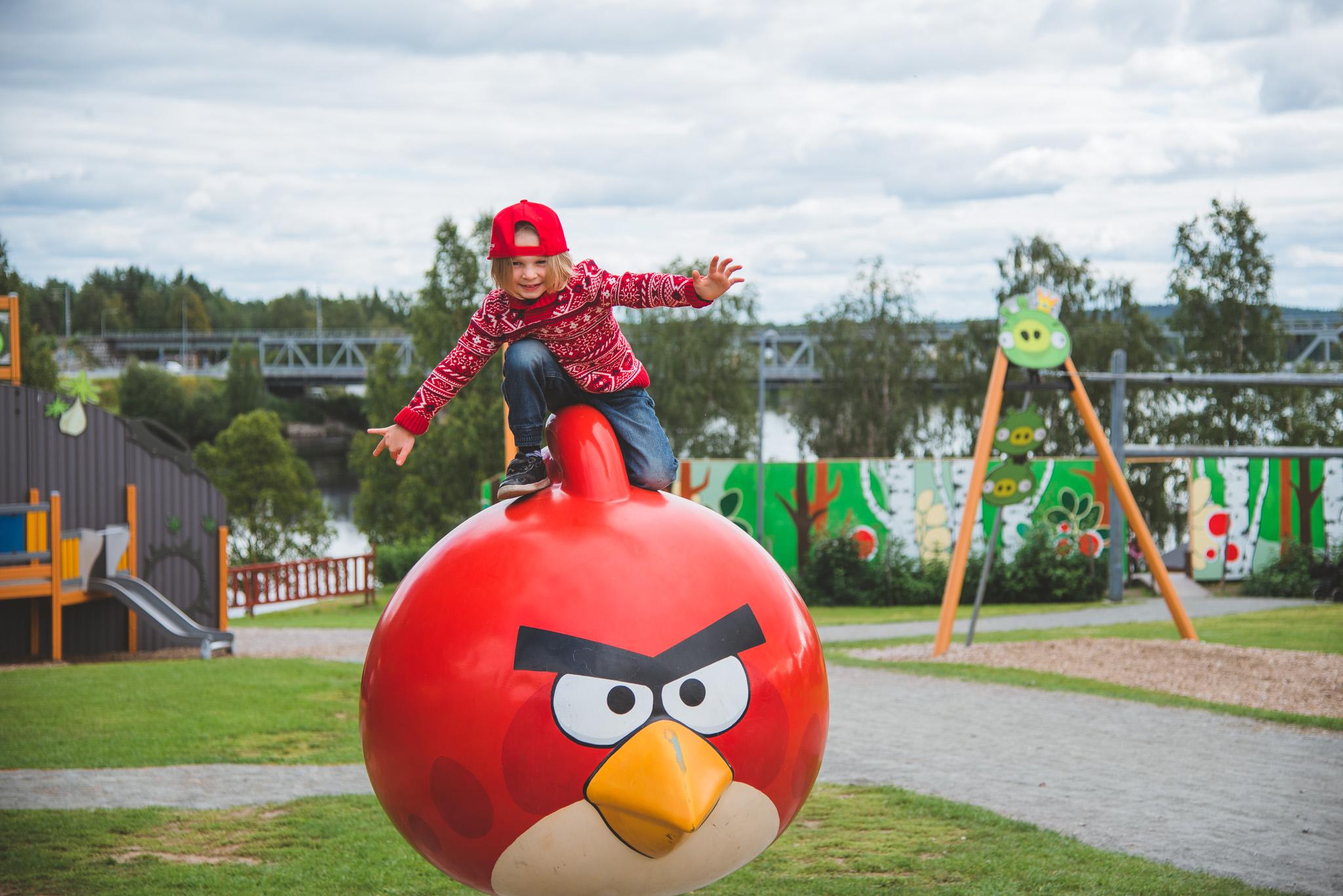 Angrybirds leikkipuisto Visit Rovaniemi Lapland Finland Käyntikohteet
