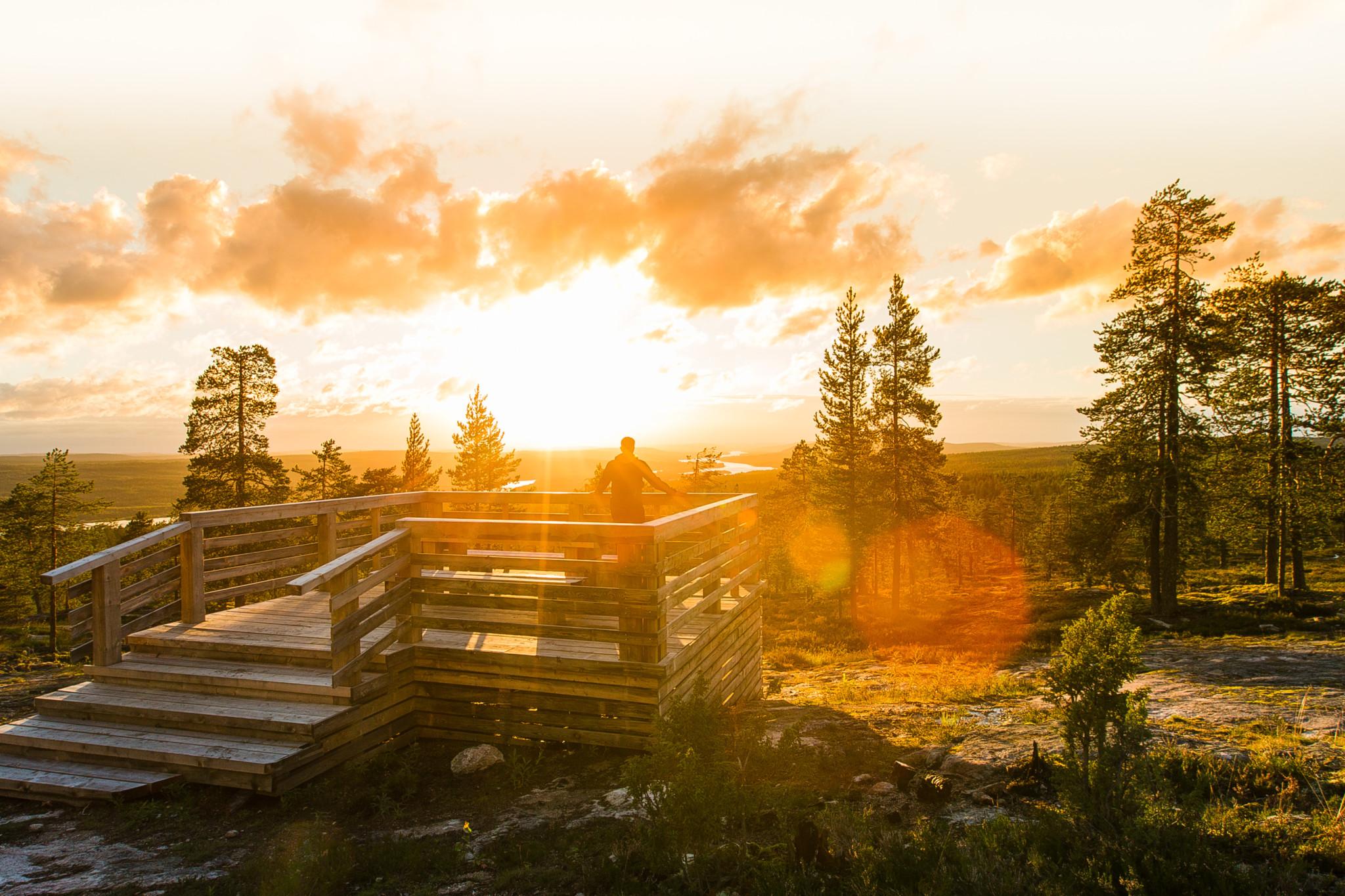 Santavaara, Rovaniemi, midnight sun