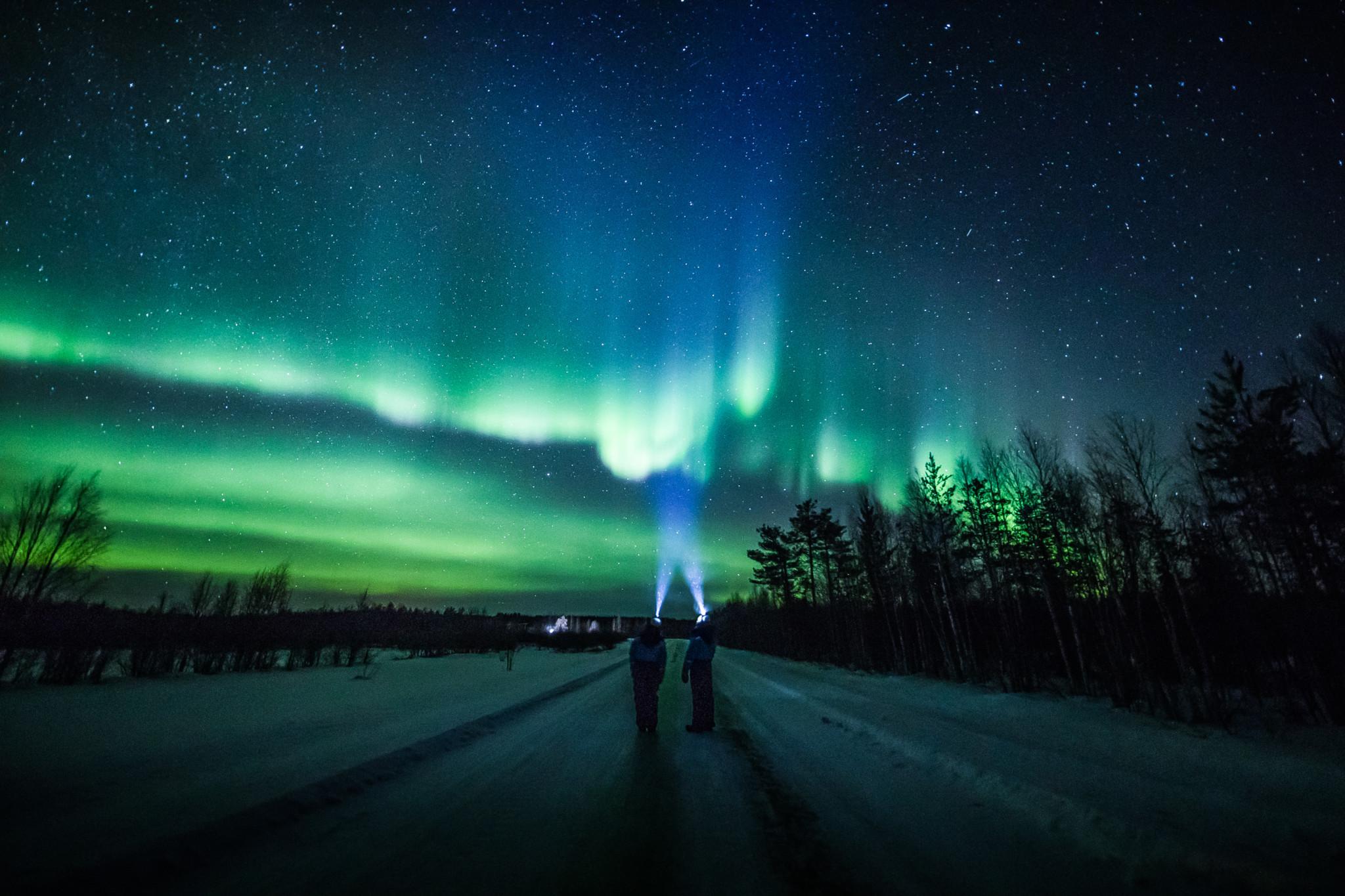 Revontulet Rovaniemi Lappi
