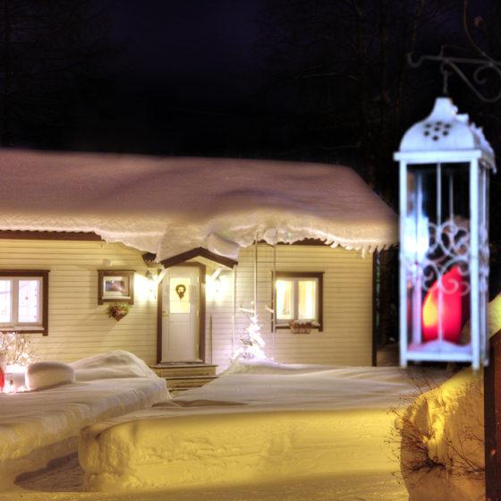 B&B Kotitie in winter Rovaniemi Lapland Finland