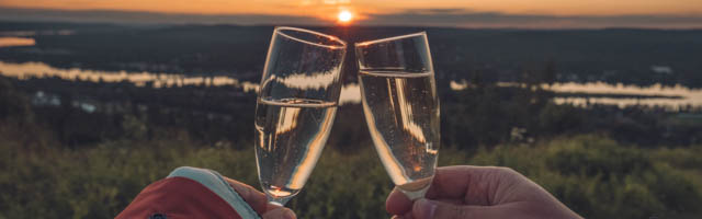 Champagne under the midnight sun in Rovaniemi, Lapland, Finland, Photo Cory Varga, You Could Travel