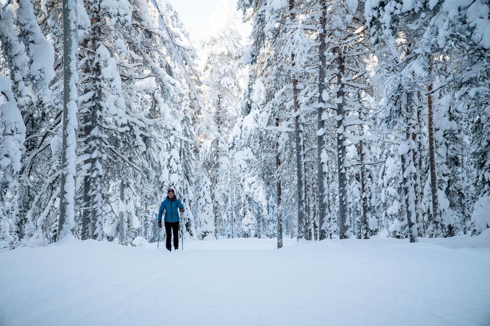 cross country skiing in Ounasvaara Rovaniemi