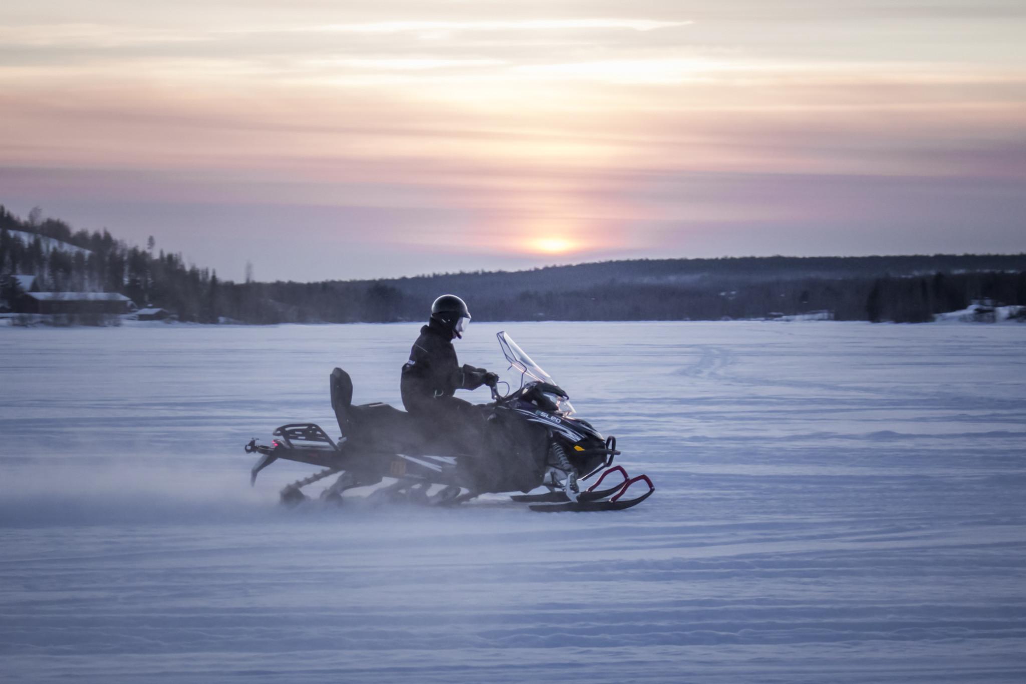Snowmobiling in Rovaniemi Lapland Finland