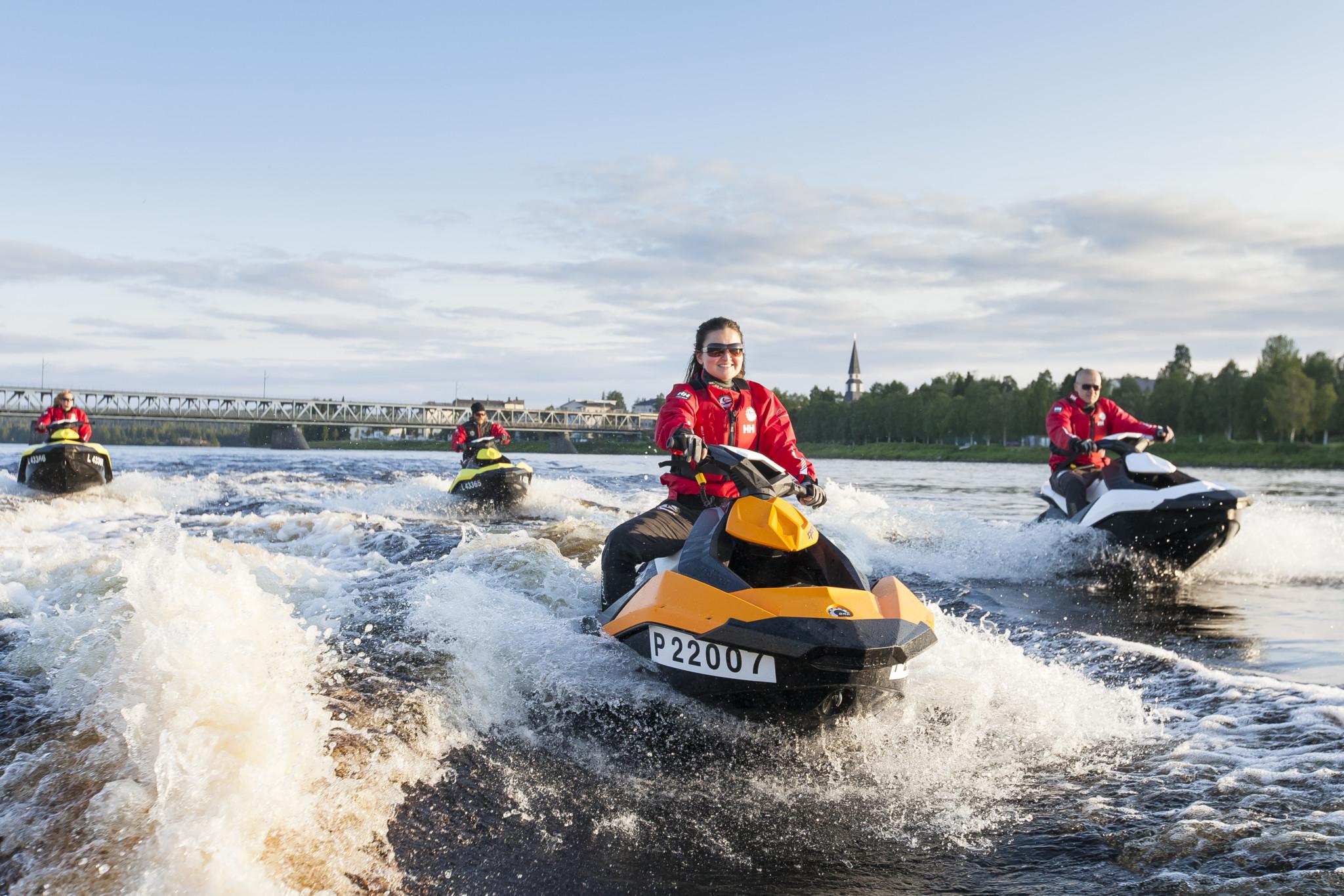Jet skiing in Kemijoki River, Arctic Lifestyle, Rovaniemi