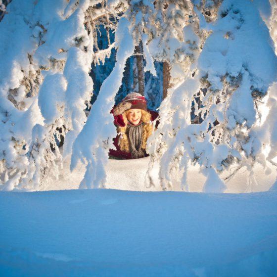 Santa Claus secret forest Joulukka in Rovaniemi