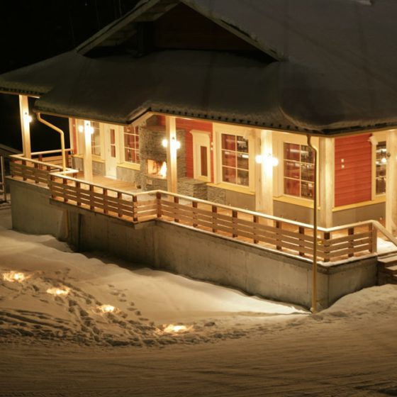 Lapland Hotel Ounasvaara Chalets from the outside, Rovaniemi