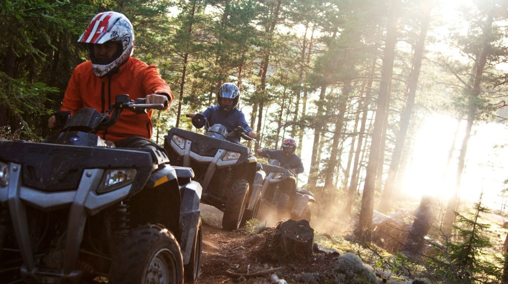 Driving quad bikes in the forest with Lapland Welcome, Rovaniemi