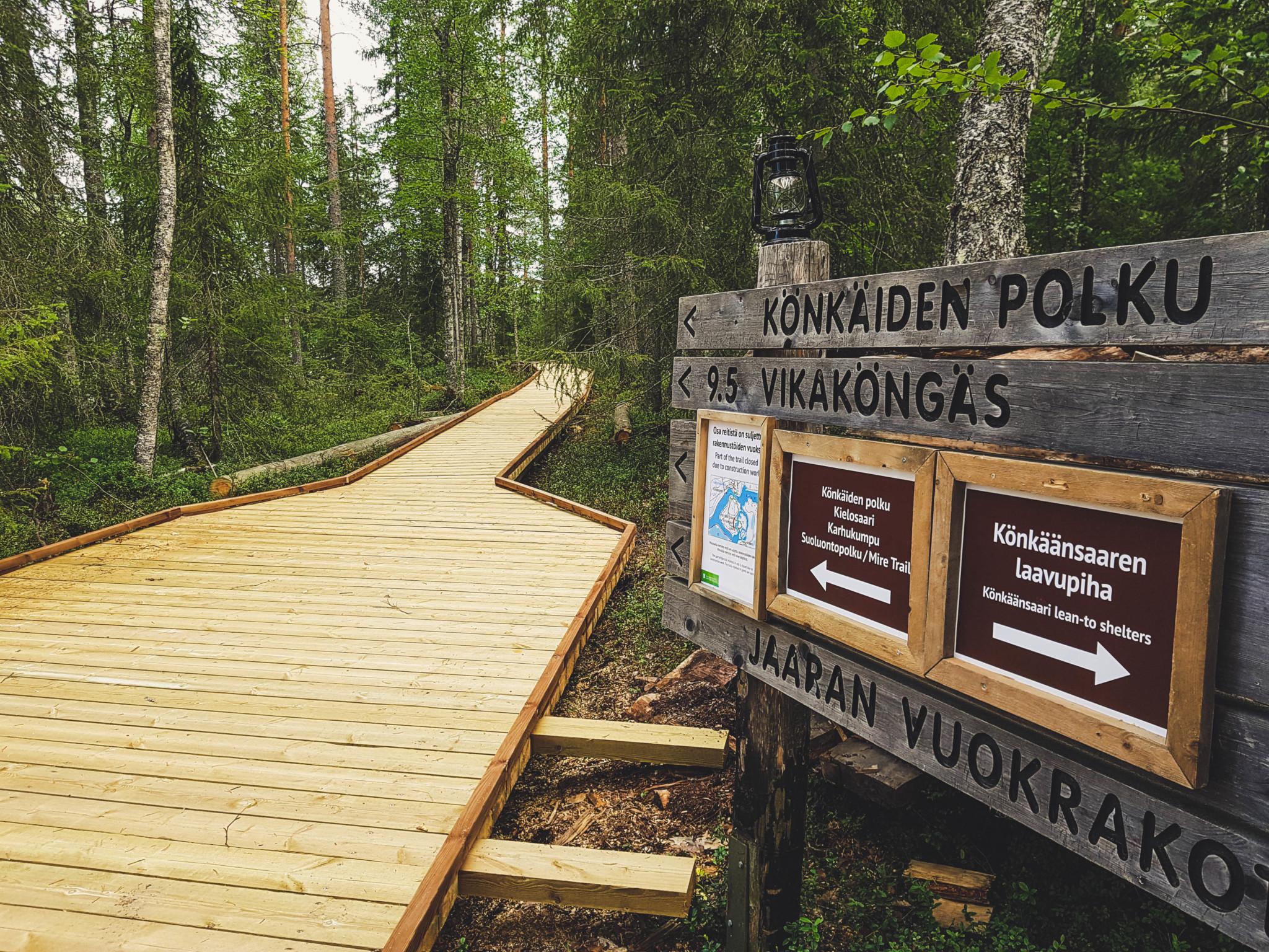 Könkäiden polku Rovaniemi Lapland Finland