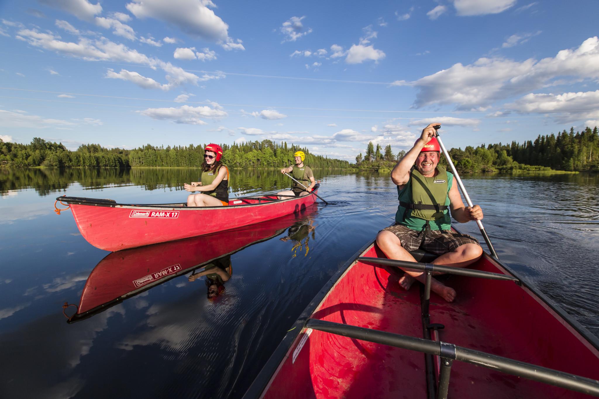 Canoe trip, Rovaniemi, Happy Fox