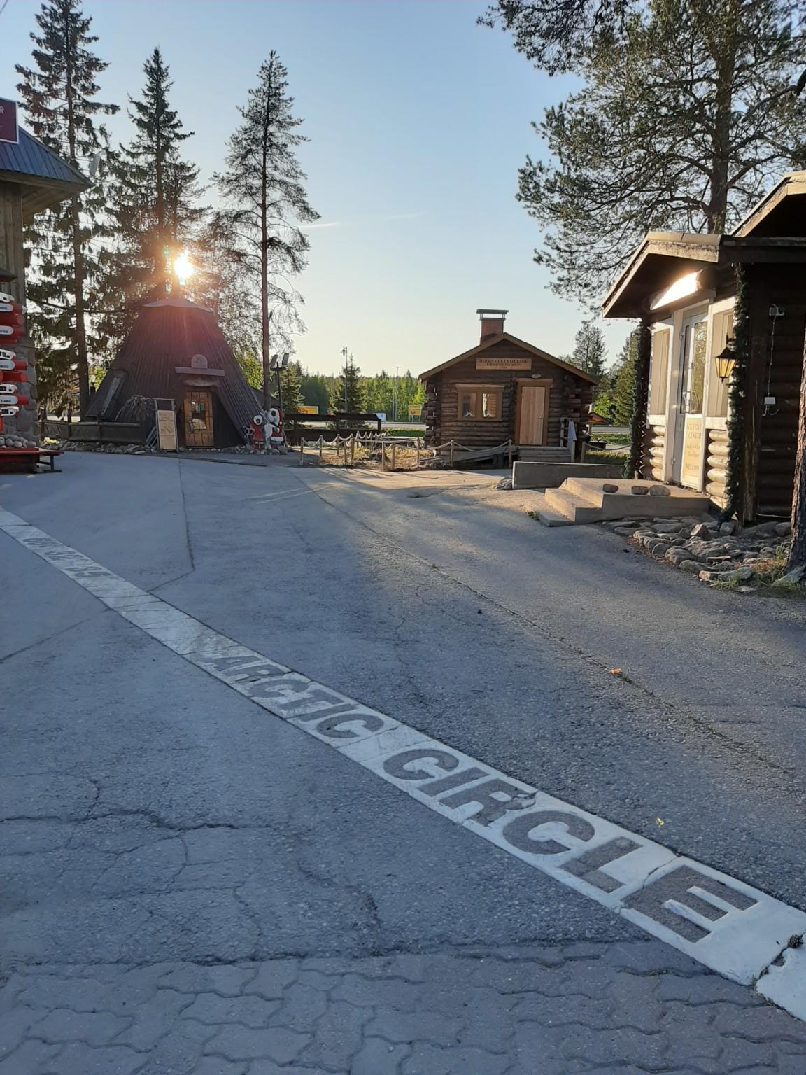 Roosevelt cabin at the arctic circle Rovaniemi Lapland Finland