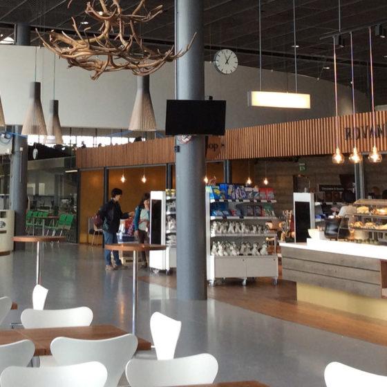 Rovaniemi Cafe in Rovaniemi Airport, Lapland, Finland