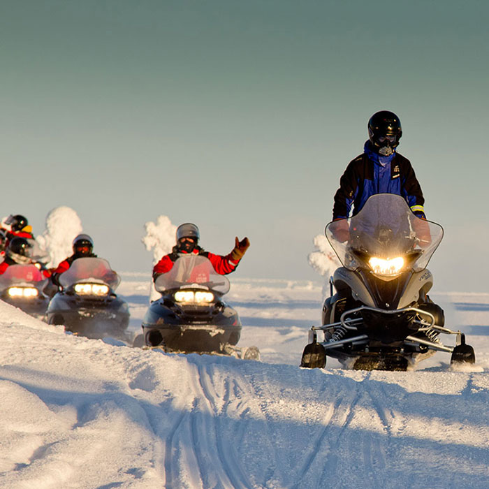 Snowmobiling program organised by Rovaniemi Congresses in Lapland, Finland