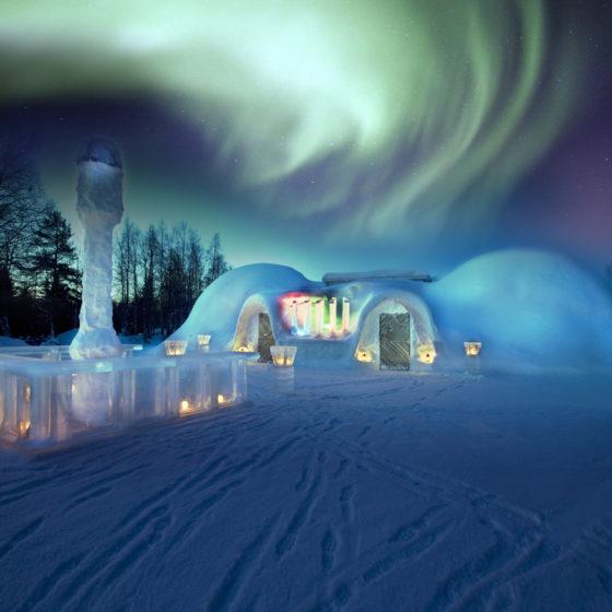Snowland restaurant in Rovaniemi, Lapland, Finland