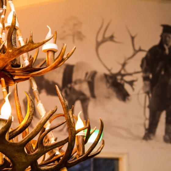 Cafe Ensilumi in Snowman World, Rovaniemi, Lapland, Finland