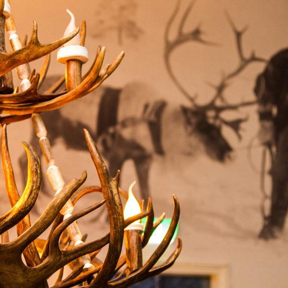 Decorations at Snowman world restaurant Ensilumi at Santa Claus Village, Arctic Circle, Rovaniemi