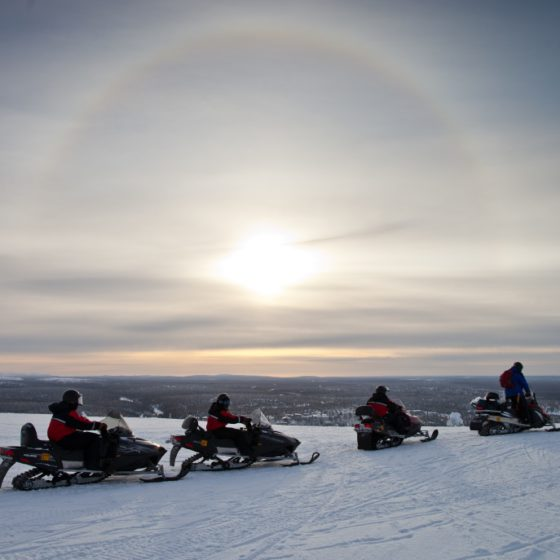 Snowmobiling with Lapland Safaris in Rovaniemi, Lapland, Finland