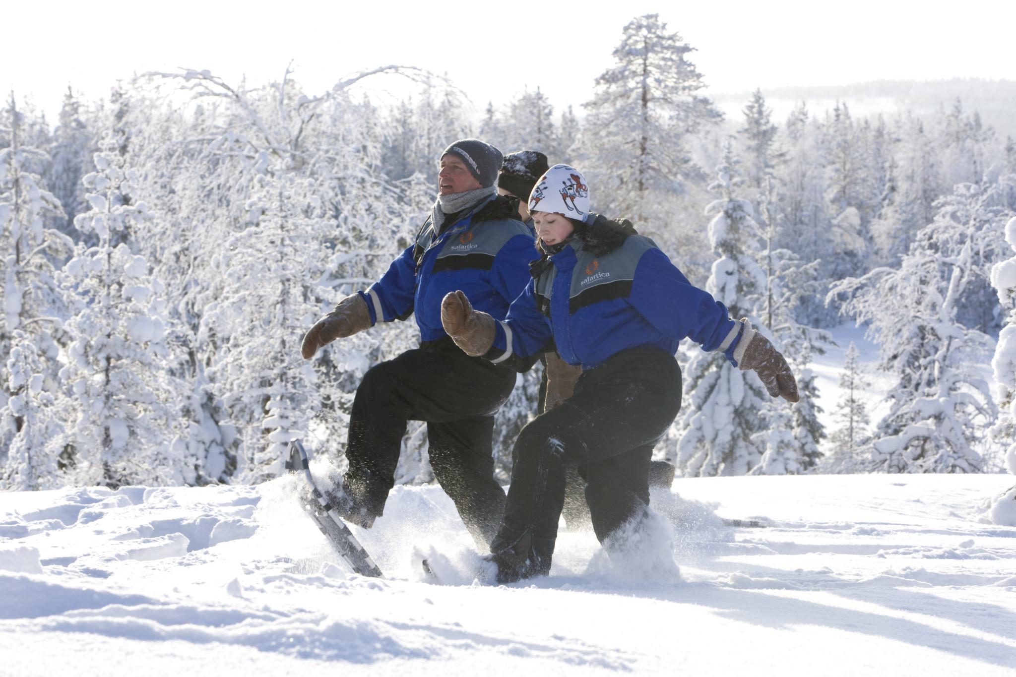 Snowshoeing in Ounasvaara