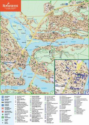 Rovaniemi tourist map 2018 Visit Rovaniemi