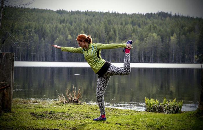Heidi Rantanen of Visit Rovaniemi is an avid outdoor yoga practitioner in the summer
