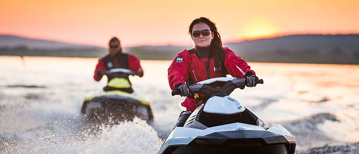 Jetskiing under the Midnight Sun in Rovaniemi, the Official Hometown of Santa Claus