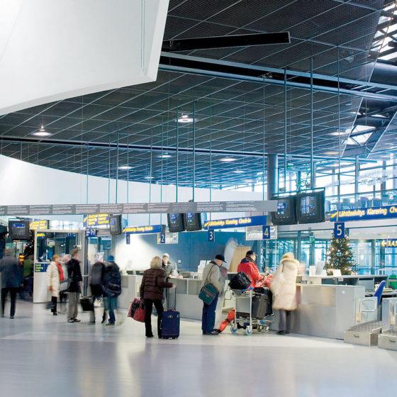 Rovaniemi airport in Rovaniemi, Lapland, Finland